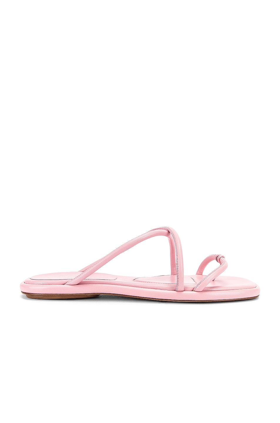 Image 1 of Rosetta Getty Leather Strappy Slides in Quartz