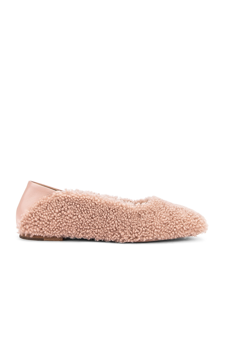 Image 1 of Rosetta Getty Shearling Loafers in Dusty Pink