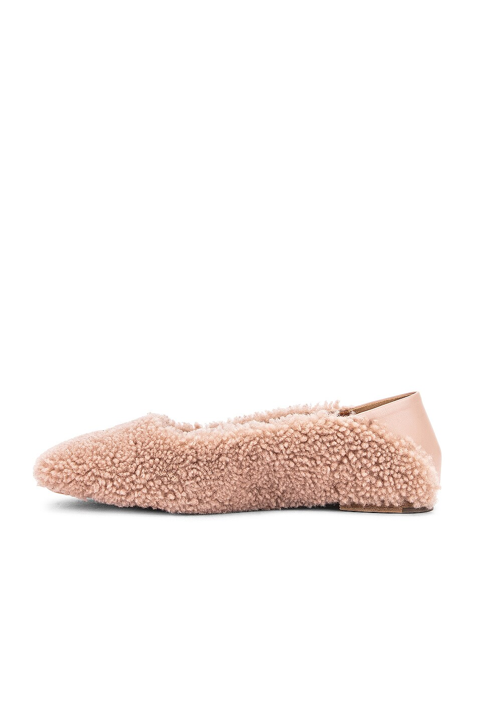 Image 5 of Rosetta Getty Shearling Loafers in Dusty Pink