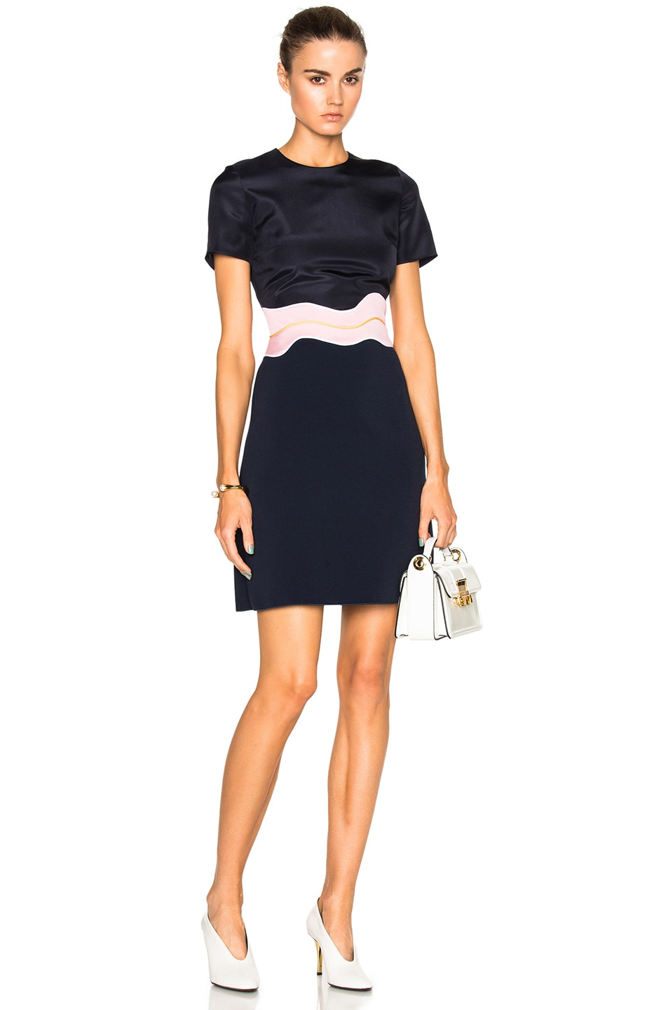 Image 1 of Roksanda Aublin Dress in Navy & Lavender