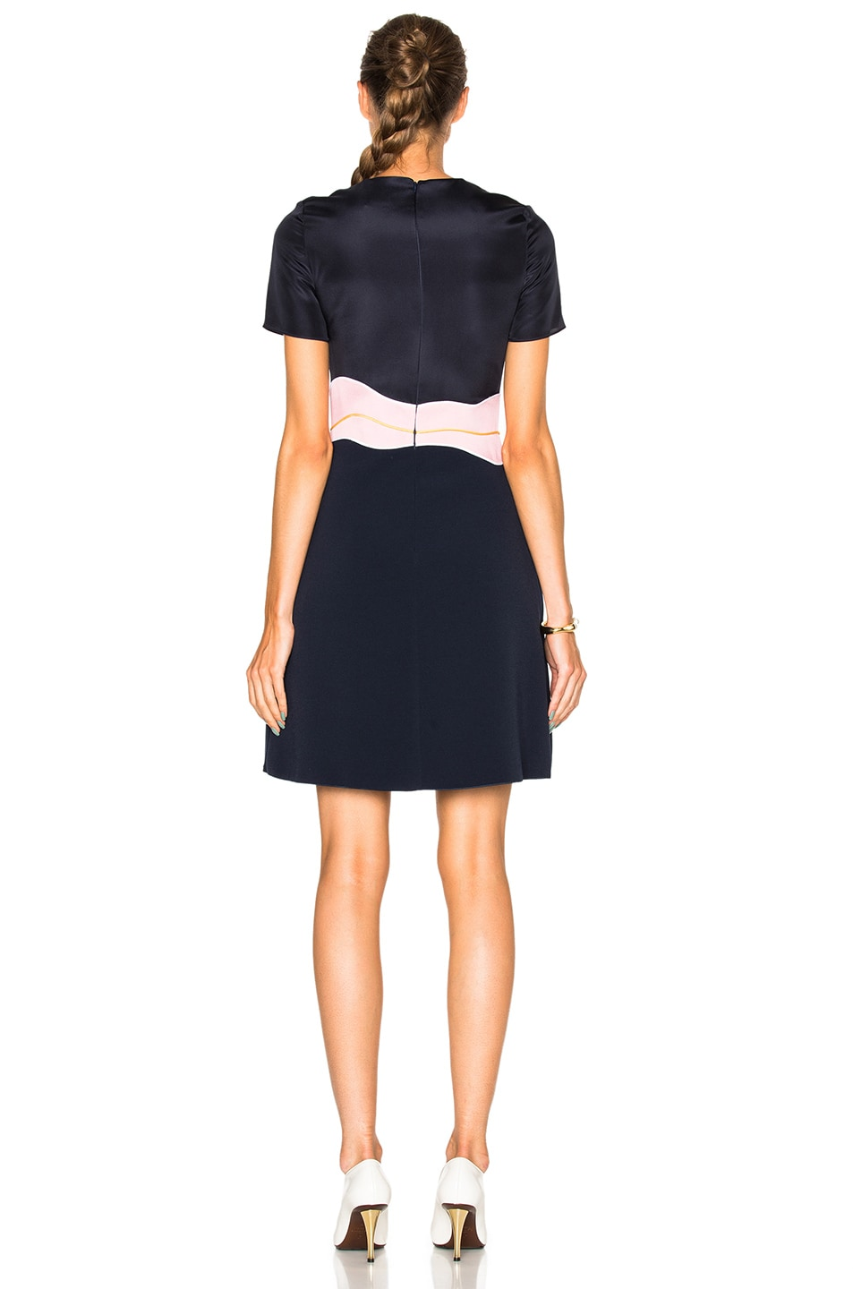 Image 4 of Roksanda Aublin Dress in Navy & Lavender