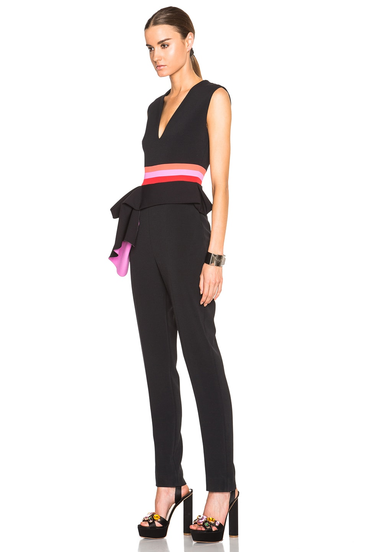 Image 2 of Roksanda Kenzey Jumpsuit in Black & Fuchsia