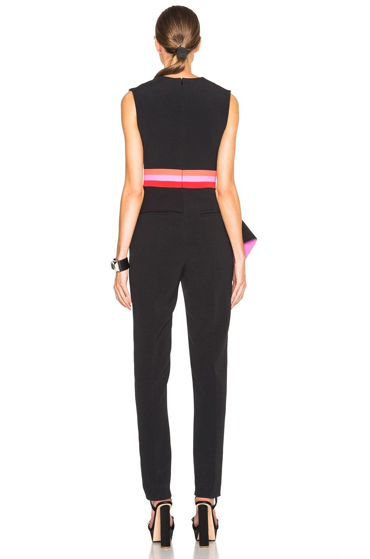 Image 4 of Roksanda Kenzey Jumpsuit in Black & Fuchsia