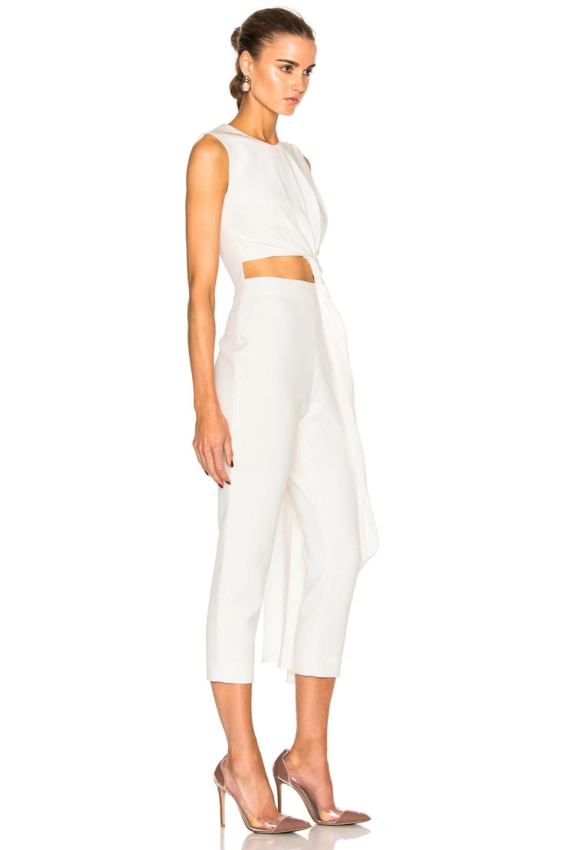 b2708eccf2d Image 3 of Roksanda Bridal Silk   Bonded Crepe Jumpsuit in Ivory