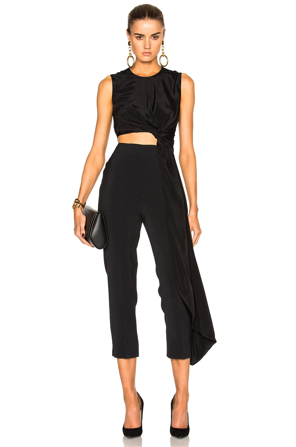 Image 1 of Roksanda Cady & Crepe Moroccan Thurloe Jumpsuit in Black