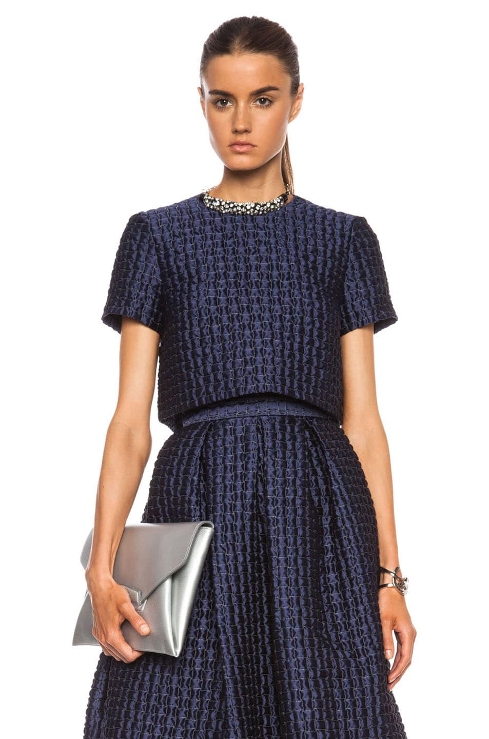 Image 1 of Roksanda Roelle Poly-Blend Top in Navy
