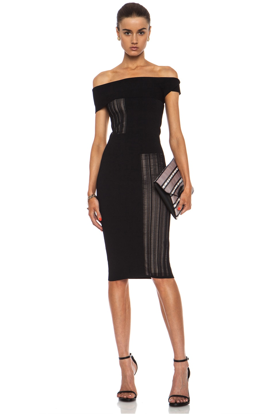Image 1 of Roland Mouret Mable Viscose-Blend Dress in Black