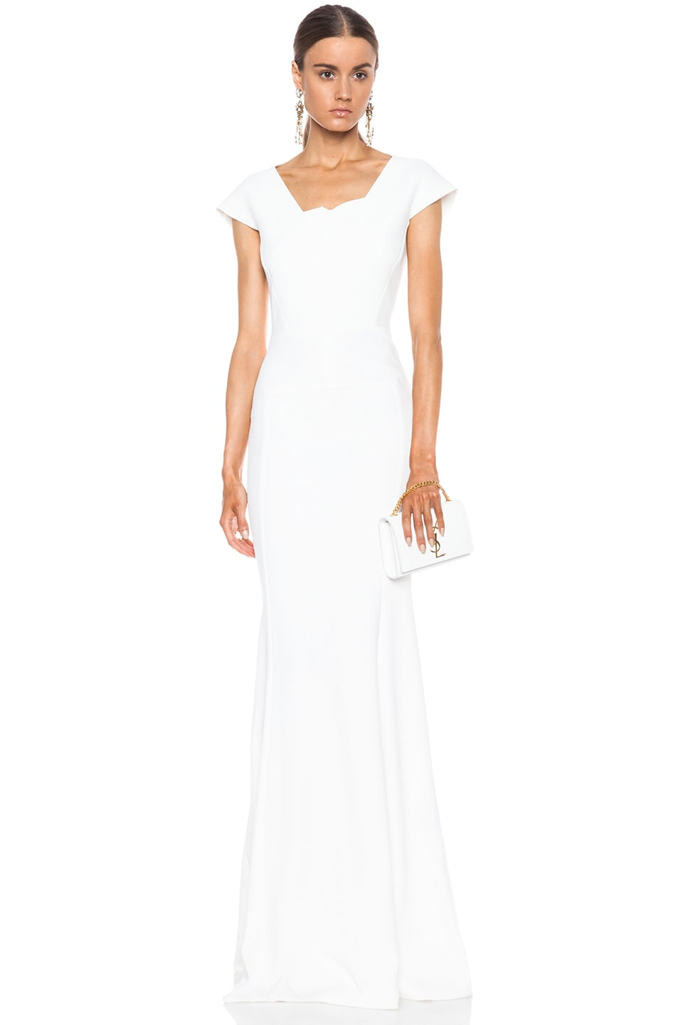 Image 1 of Roland Mouret Sitobion Viscose-Blend Gown in White