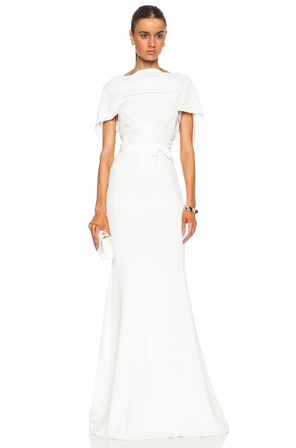 Image 1 of Roland Mouret Tinea Viscose-Blend Gown in White