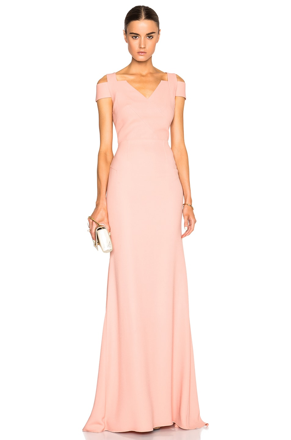 Image 1 of Roland Mouret Nansen Gown in Pale Blush