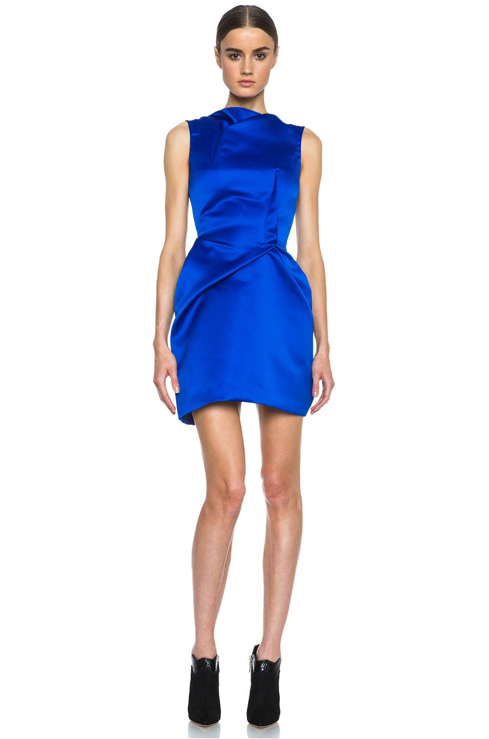 Roland Mouret Zonda Poly Dress in Electric Blue | FWRD