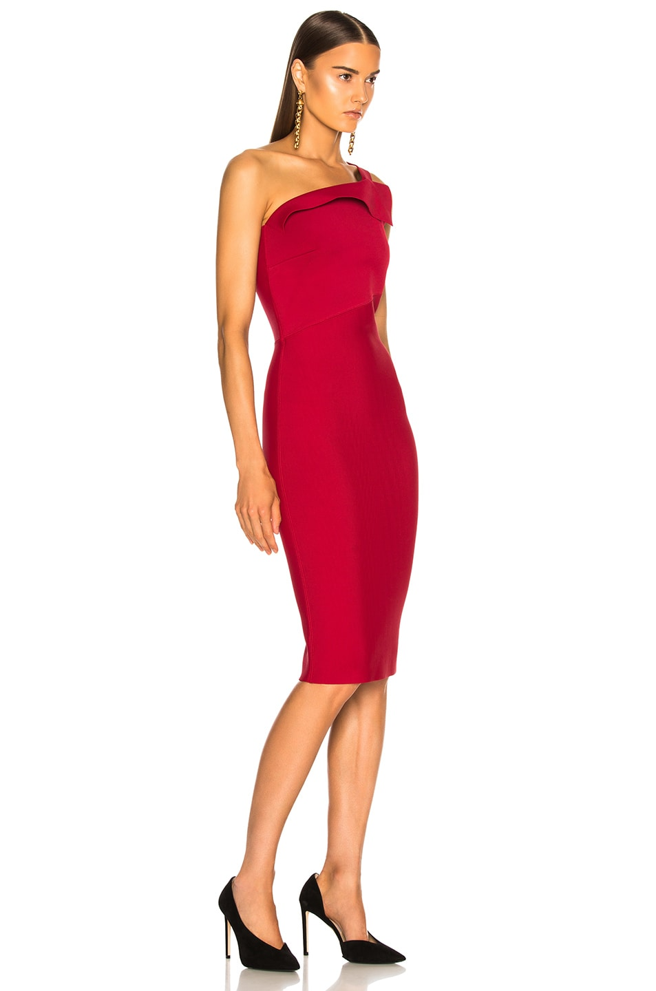8ac0f93dac Image 2 of Roland Mouret Hepburn Knit Dress in Persian Red
