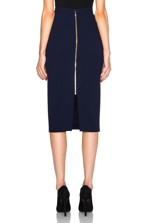 8efeca9bb Image 4 of Roland Mouret Arreton Double Wool Crepe Skirt in Navy