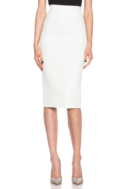 Image 1 of Roland Mouret Zosma Cotton Skirt in White