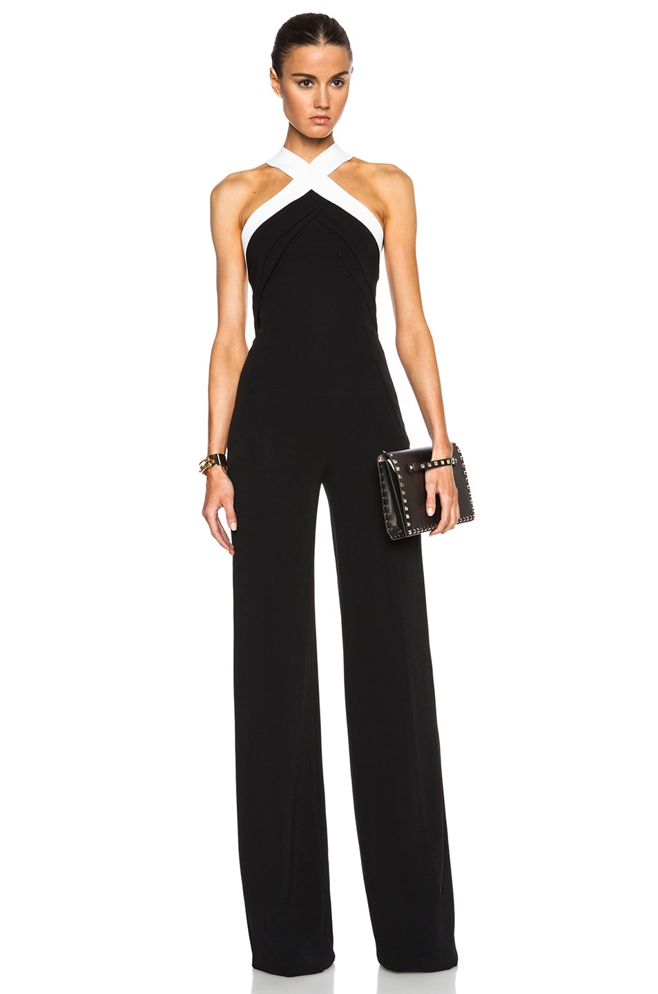 Image 1 of Roland Mouret Shotwick Jumpsuit in Black & White