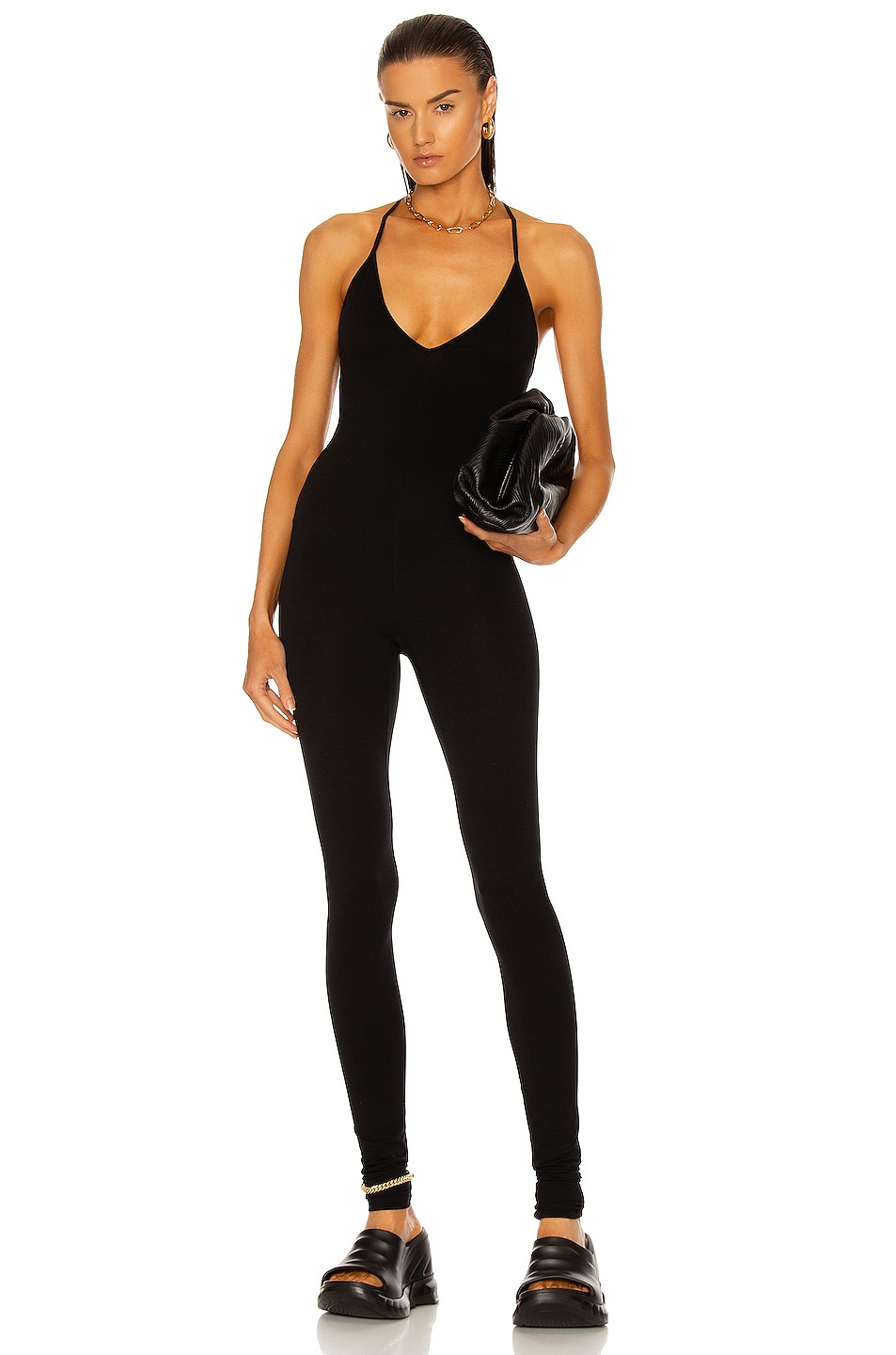 Image 1 of RICK OWENS LILIES Sleeveless Catsuit in Black