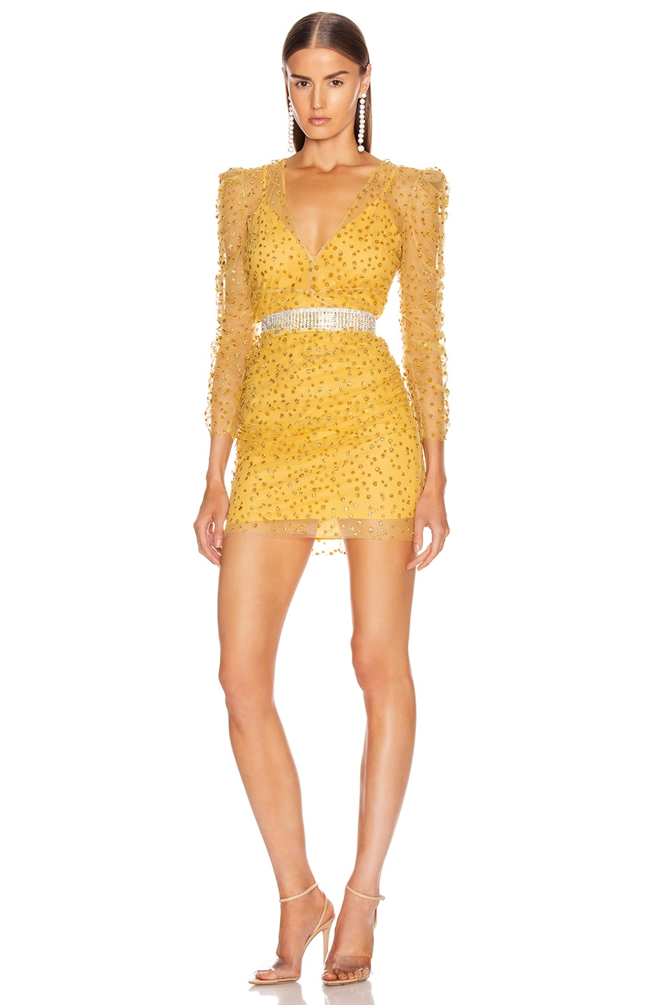 Image 1 of Rêve Riche Yala Dress in Cardinal Yellow