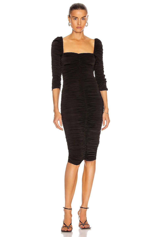 Image 1 of Rêve Riche Emanuele Midi Dress in Black