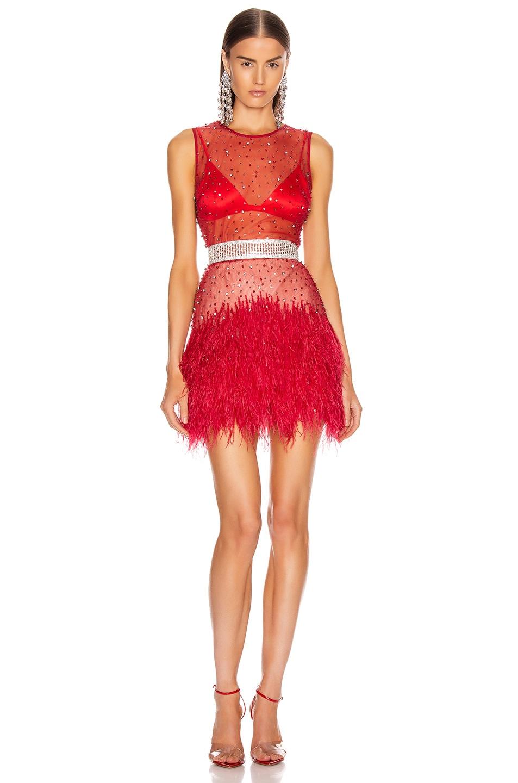Image 1 of Rêve Riche Hadi Dress in Tango Red