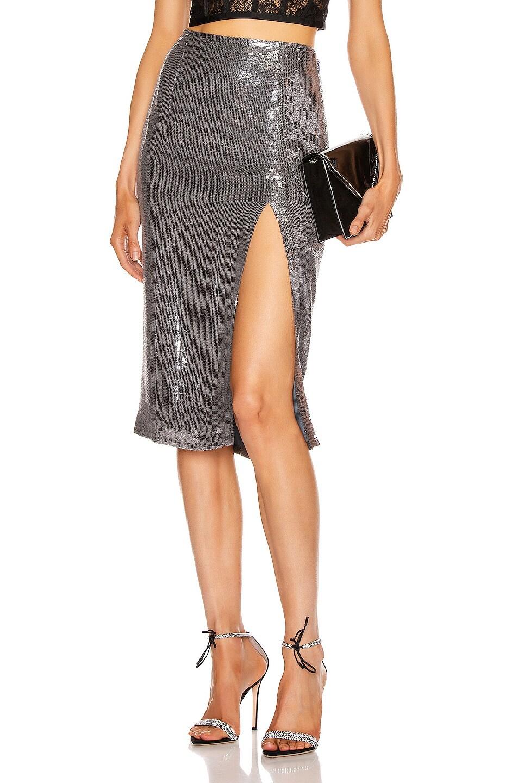 Image 1 of Rêve Riche Alara Skirt in Stone Silver