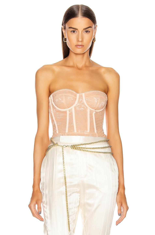 Image 1 of Rêve Riche Esada Bodysuit in Light Peach