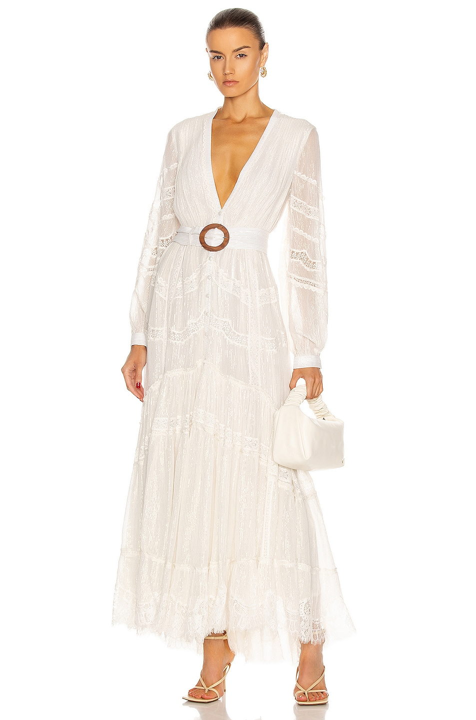Image 1 of ROCOCO SAND Zuri Maxi Dress in Off White