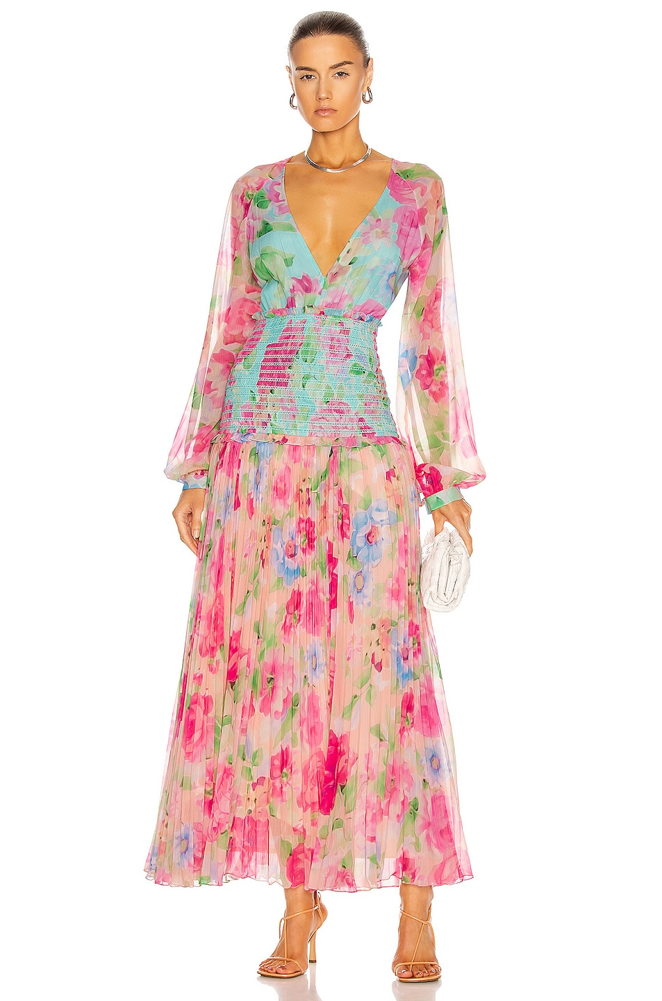 Image 1 of ROCOCO SAND Alora Pleated Maxi Dress in Multi