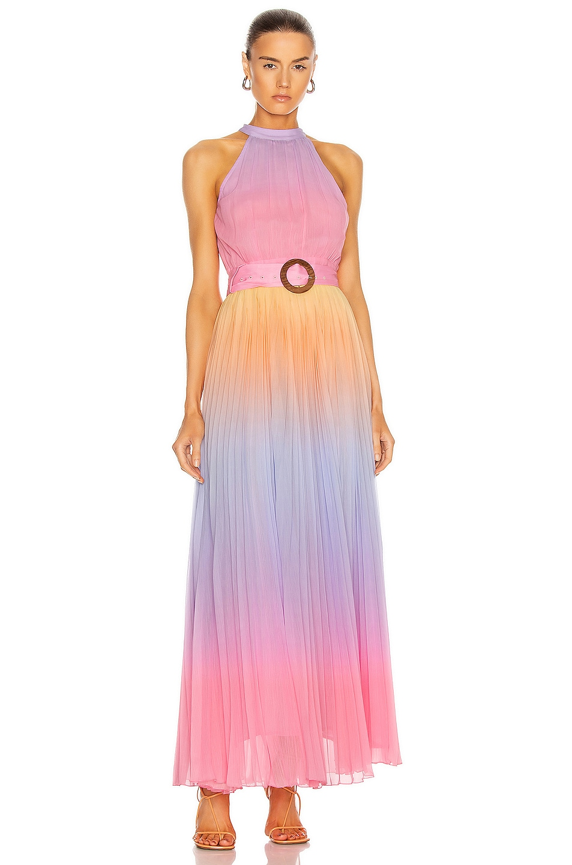 Image 1 of ROCOCO SAND Emi Halter Neck Maxi Dress in Multi