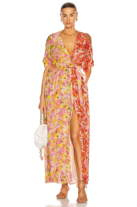 Image 1 of ROCOCO SAND Nesh Maxi Dress in Orange & Yellow
