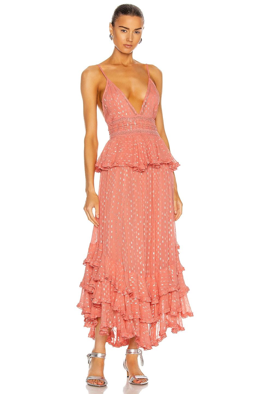 Image 1 of ROCOCO SAND Aria Maxi Dress in Peach