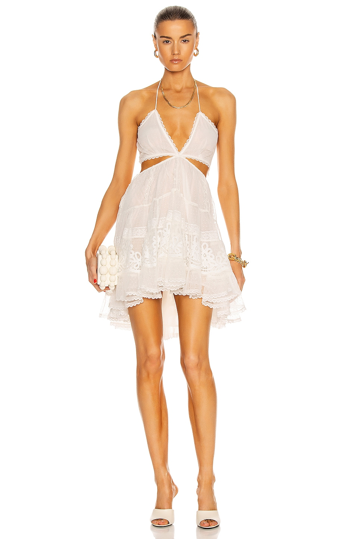 Image 1 of ROCOCO SAND Ame Mini Dress in Off White