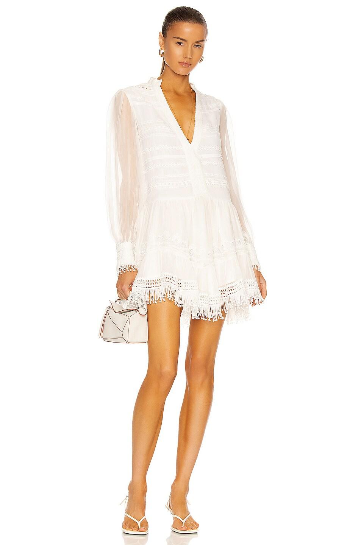 Image 1 of ROCOCO SAND Cia Mini Dress in Off White