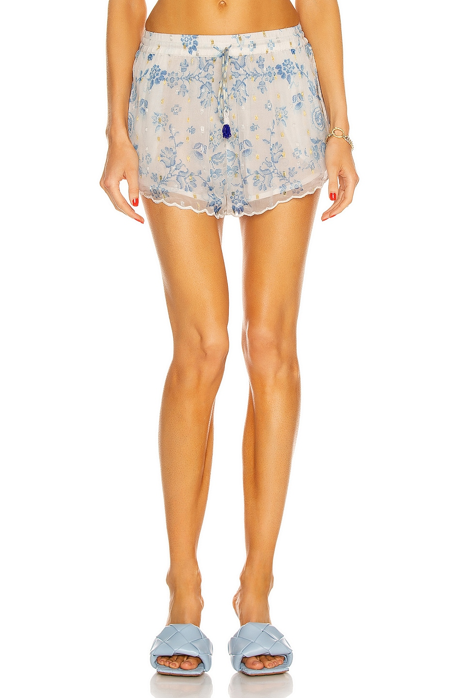 Image 1 of ROCOCO SAND Leas Short in White & Blue