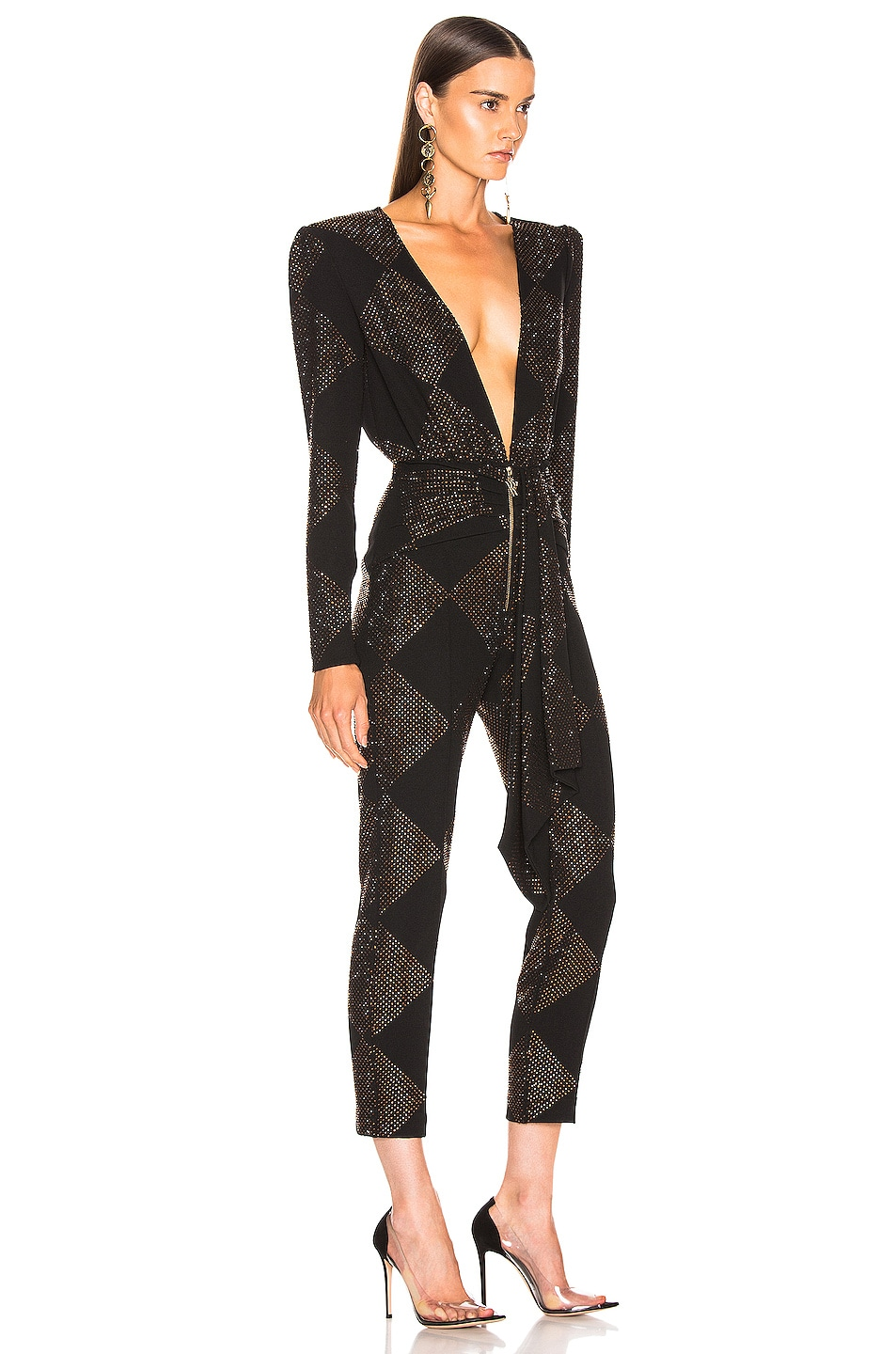 Image 2 of RAISA&VANESSA Strass Embelished Jumpsuit in Black