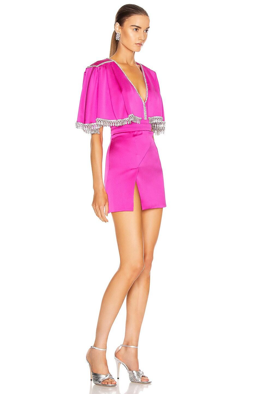 Image 2 of RAISA&VANESSA Beaded Satin Mini Dress in Pink