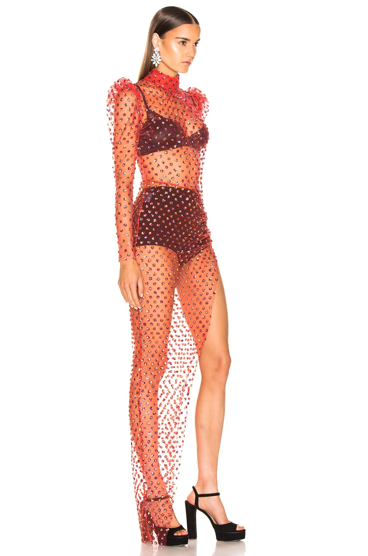 Image 2 of RAISA&VANESSA Turtleneck Maxi Dress in Red