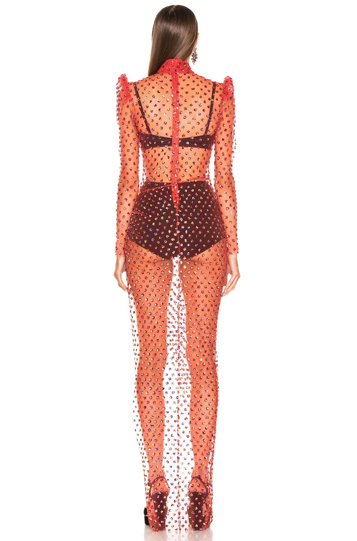 Image 3 of RAISA&VANESSA Turtleneck Maxi Dress in Red
