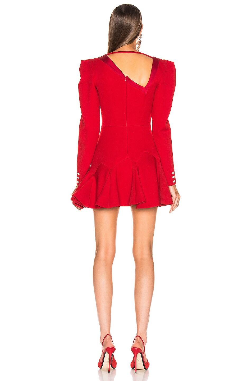 Image 3 of RAISA&VANESSA Beaded Ruffled Mini Dress in Red