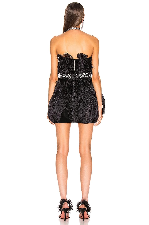 Image 3 of RAISA&VANESSA Strapless Feather Mini Dress in Black