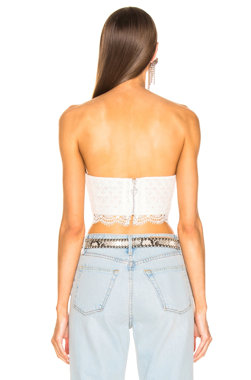 Image 3 of RAISA&VANESSA Lace Bustier Top in White