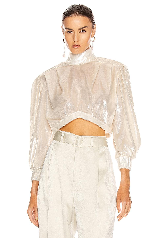 Image 1 of RAISA&VANESSA Velvet Mini Top in White