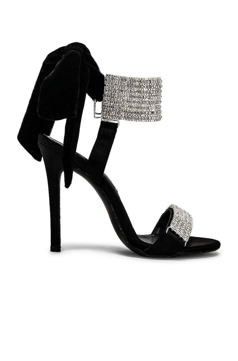 Image 1 of RAISA&VANESSA Embellished Bow High Heels in Black & Crystal