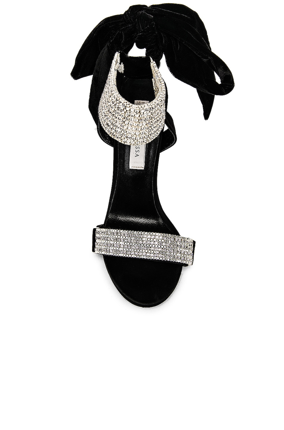 Image 4 of RAISA&VANESSA Embellished Bow High Heels in Black & Crystal