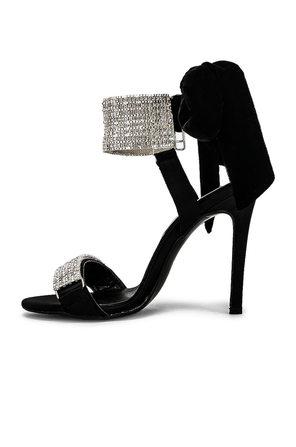 Image 5 of RAISA&VANESSA Embellished Bow High Heels in Black & Crystal