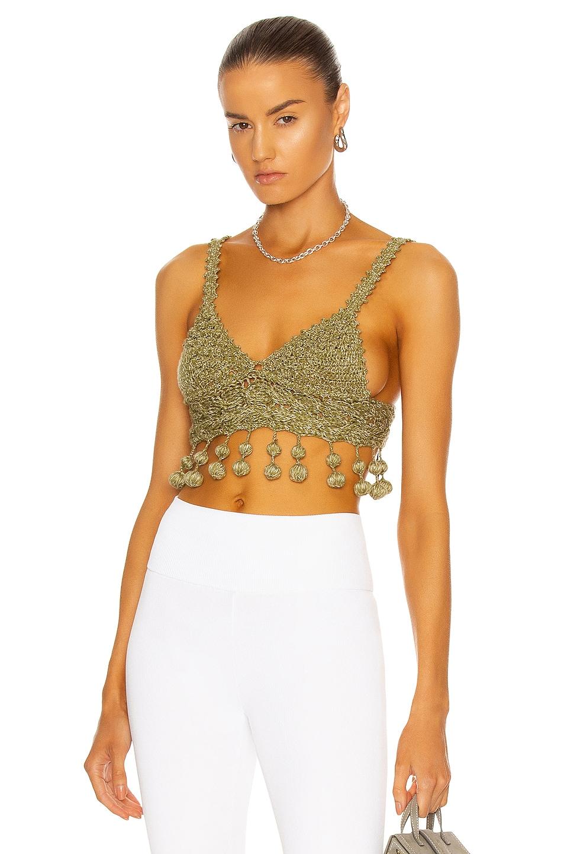 Image 1 of Rosie Assoulin Knit Carmen Miranda Bralette in Jade