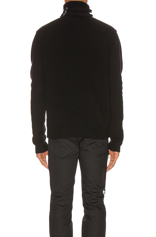 Image 3 of Raf Simons Turtleneck Knit Straps Sweater in Black