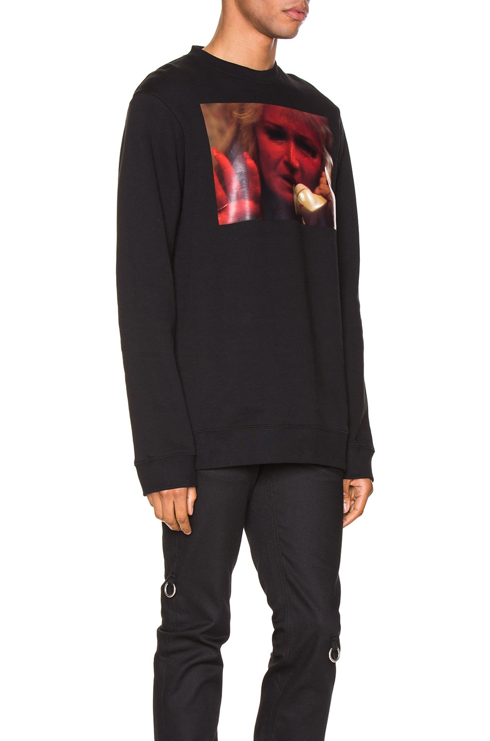 Image 2 of Raf Simons Mother On Phone Crewneck in Black