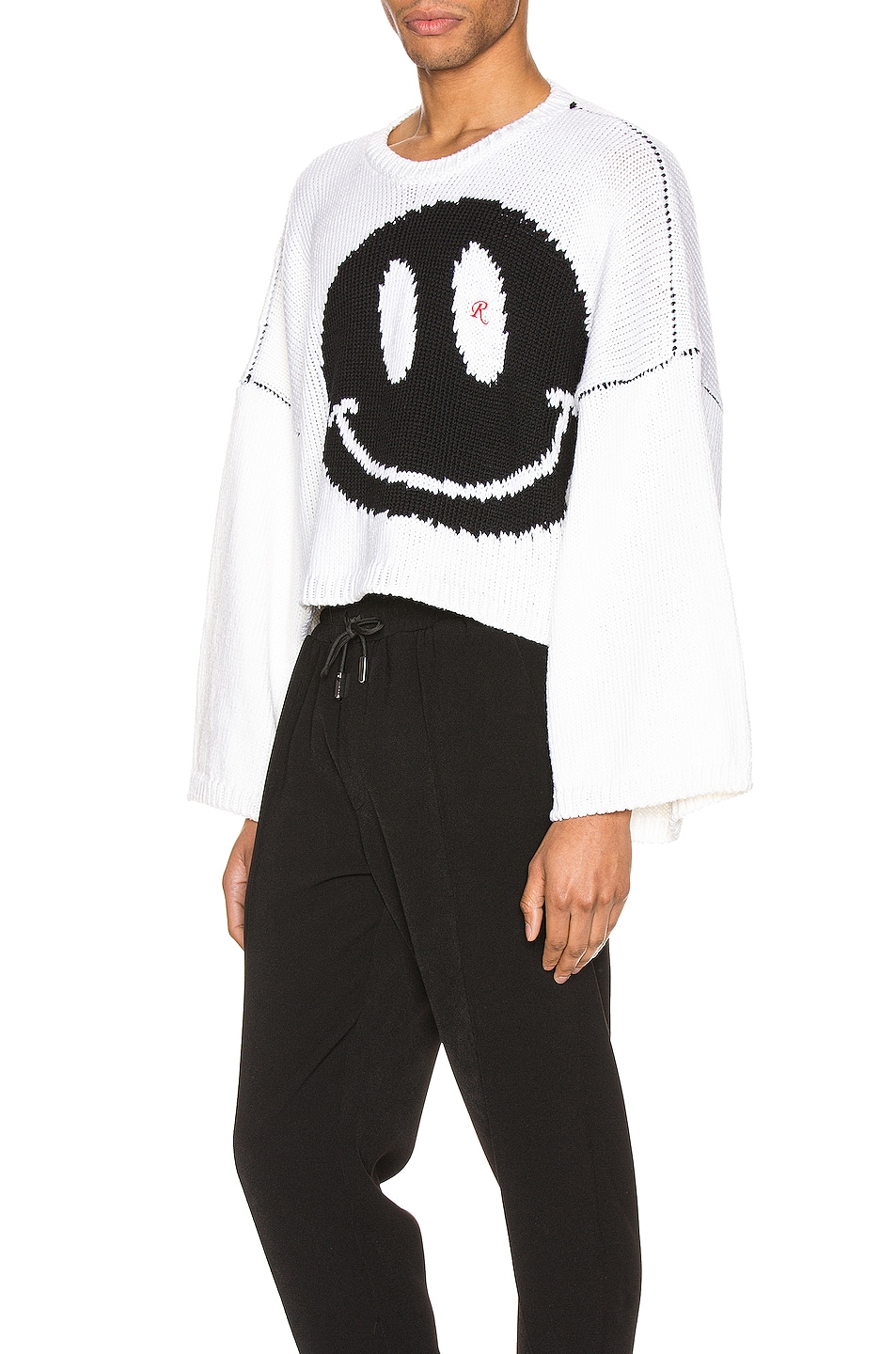 Image 3 of Raf Simons Smiley Oversized Sweater in White