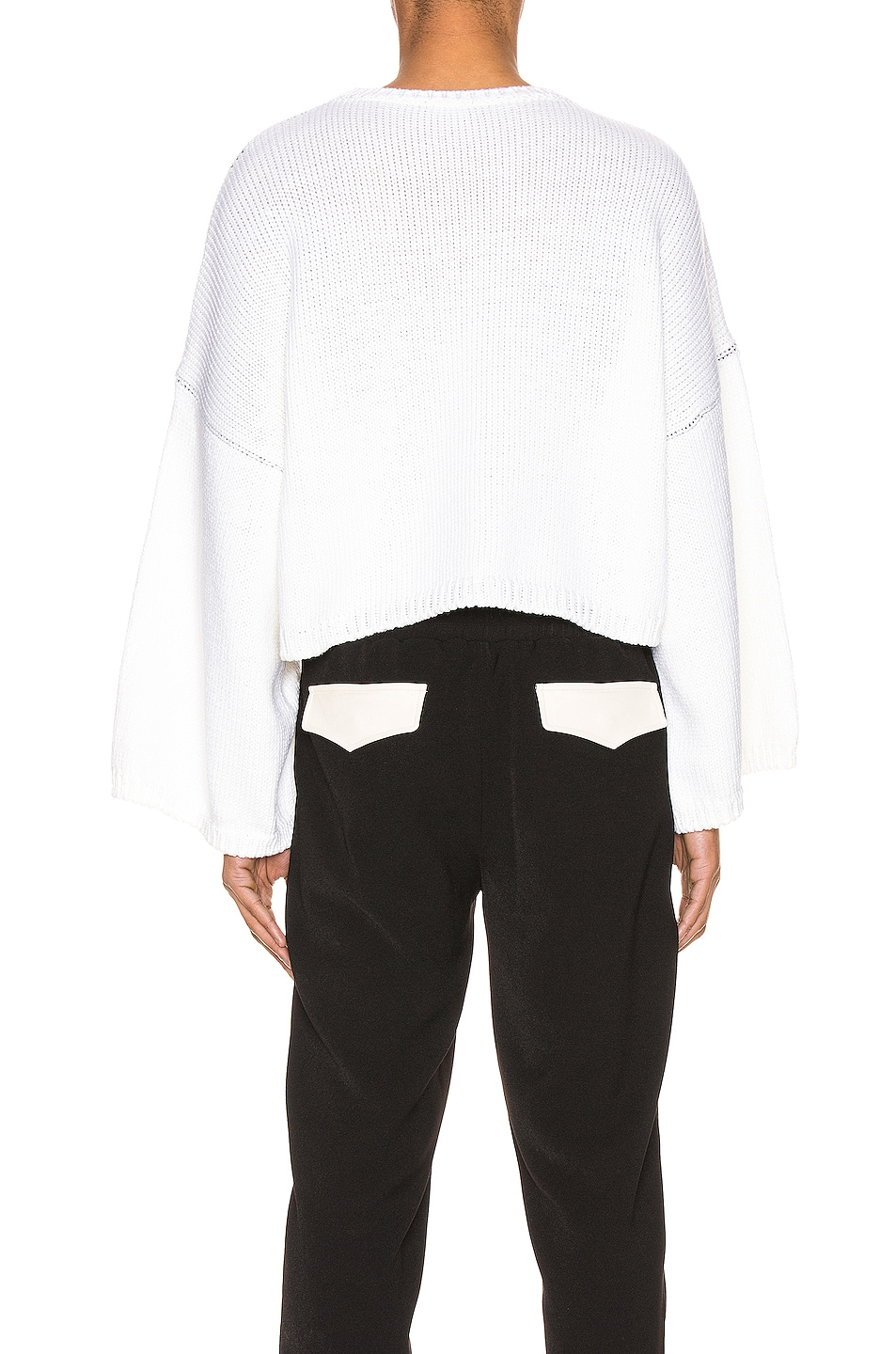 Image 4 of Raf Simons Smiley Oversized Sweater in White