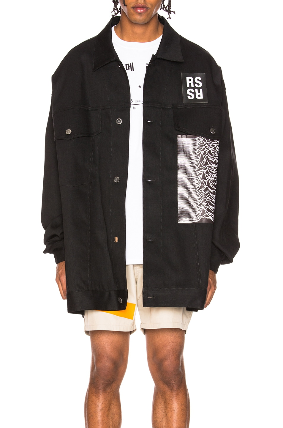 ebf4b6fdf0d Image 1 of Raf Simons Denim Jacket in Black